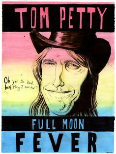tom petty full moon fever tour poster