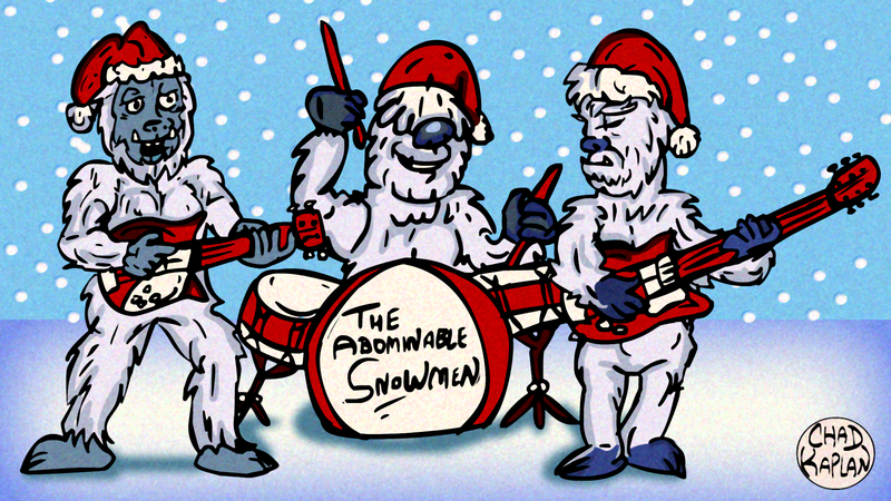 rock__n__roll_christmas_yetis__by_leevancleefiii-d6xxo1c