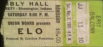 9.26 ELO 11.7.1981 concert ticket