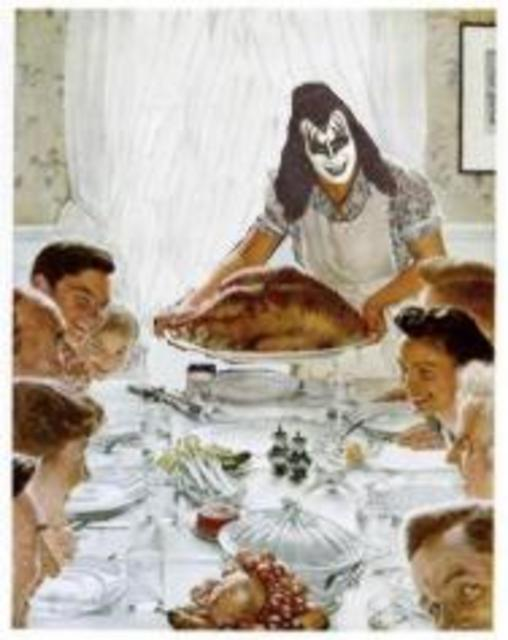 gene simmons serving thanksgiving