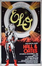 7.31 ELO with Hall & Oates concert poster for IU