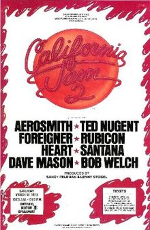 9.20 California Jam 2 Poster