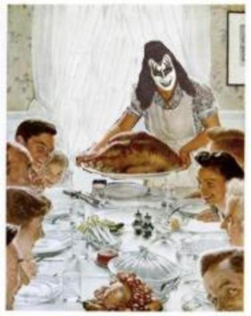 11.21 Gene Simmons serves Thanksgiving