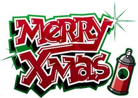 12.6 Merry Xmas Graffiti