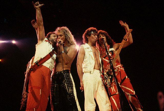 Van Halen Singing at a Concert