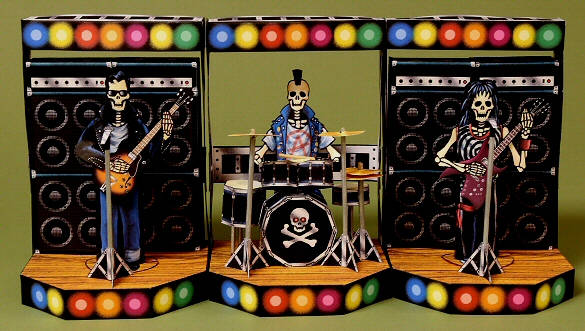 10.31 Halloween-Rock-n-Roll-Band-Papercraft