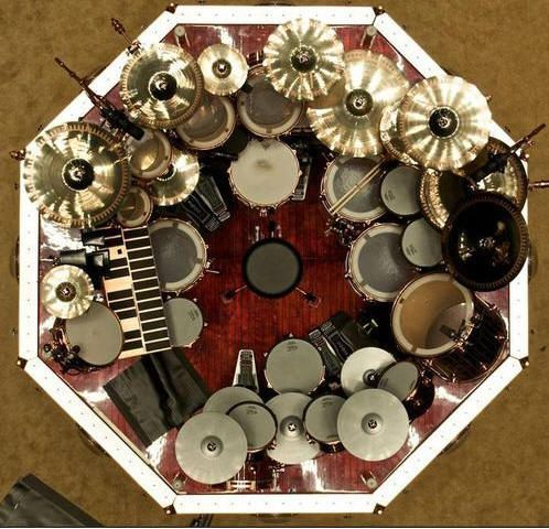1.13 neil peart aerial view drum set